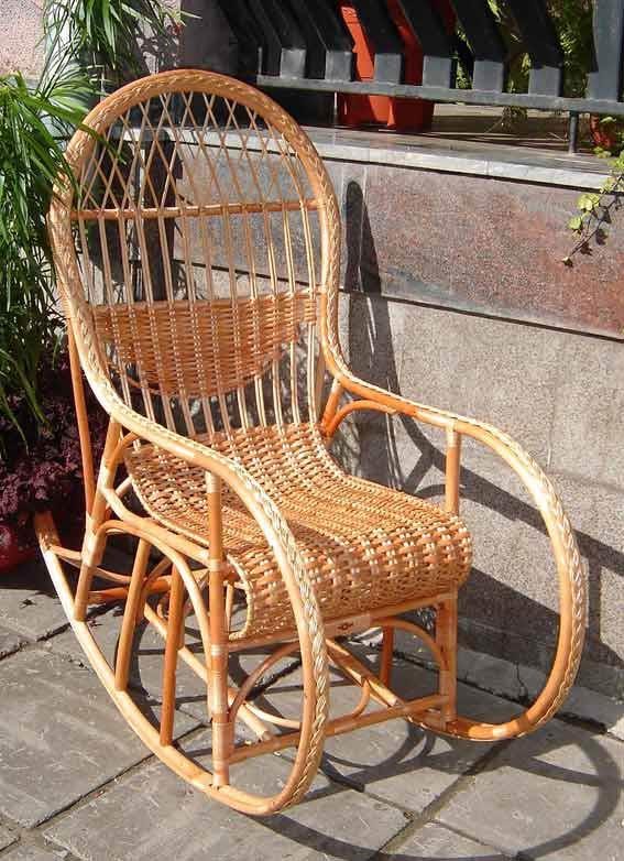 Кресла качалка своими руками из лозы 486